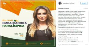 """cleopires_emabiaxadora-300x158 Polêmica da campanha """"Somos Todos Paralímpicos"""""""