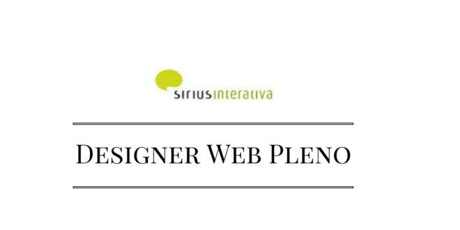 Sirius Interativa vapa Designer Web Pleno - RJ