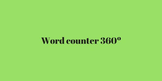 Word counter 360º - Contador de caracteres