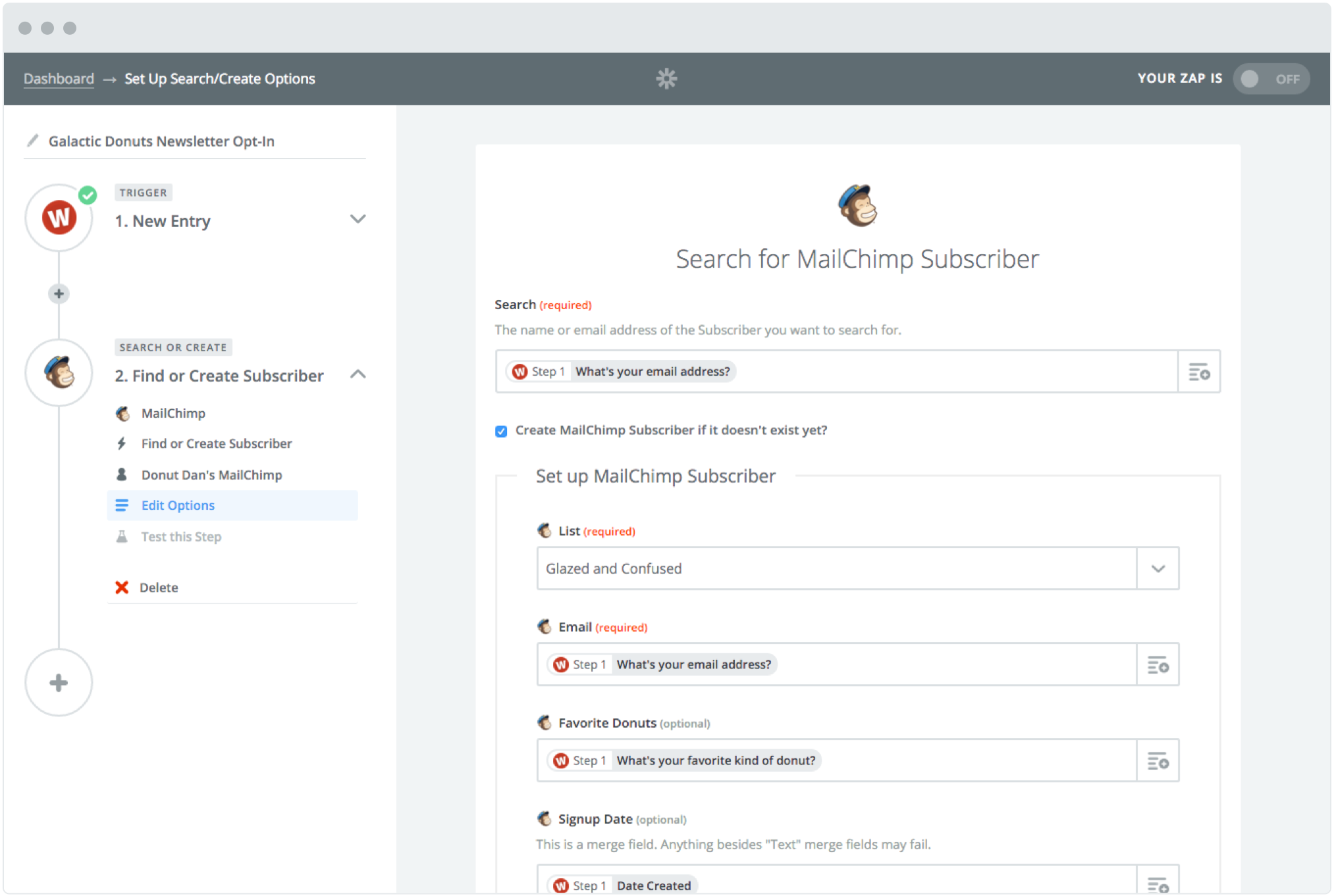 editor Zapier | A maneira mais fácil de automatizar seu trabalho